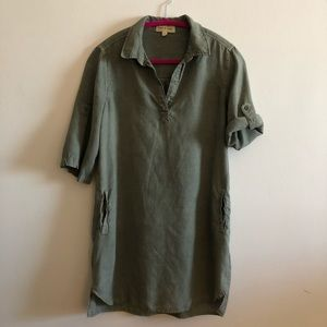 Cloth & Stone Olive Green Shirtdress